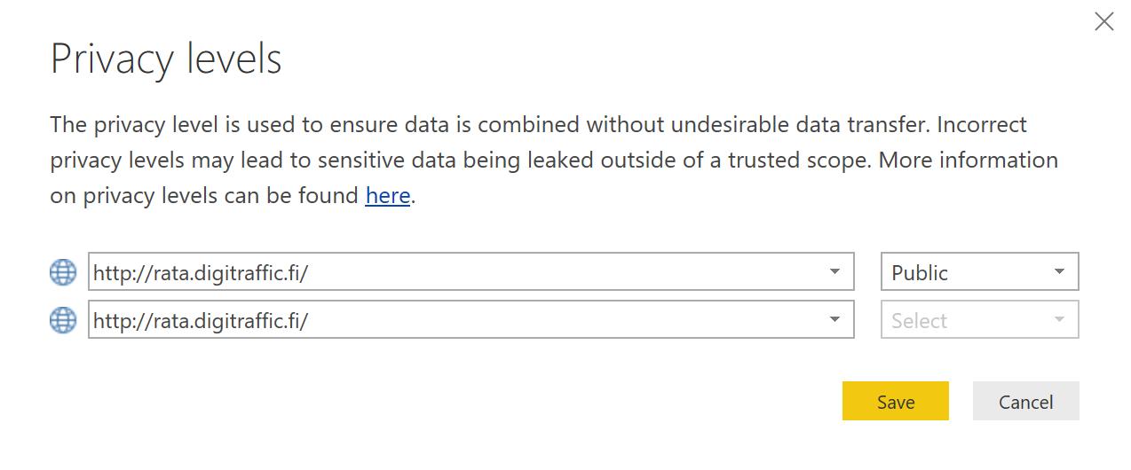 yksityisyysasetukset